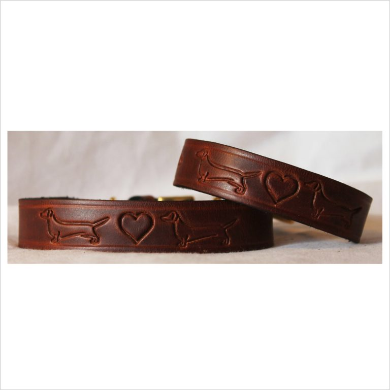 Signature Leather Dachshund Collars