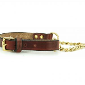 Signature Leather Half Check Dog Collars