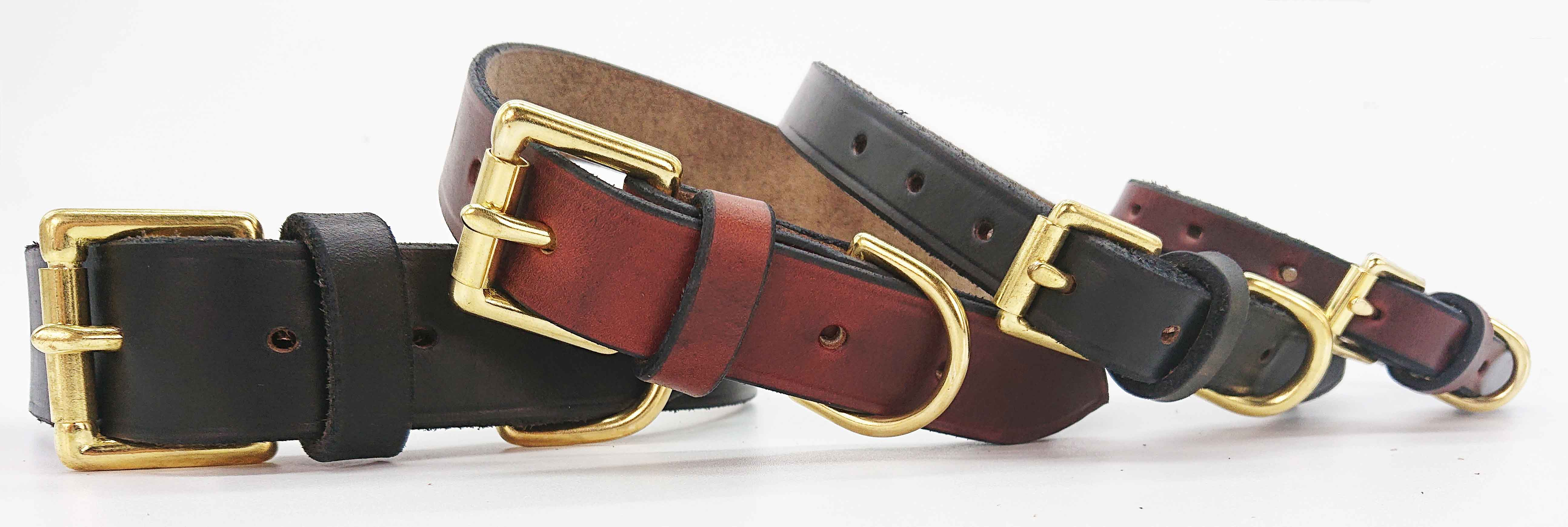 Handmade Signature Leather Dog Collar Collection