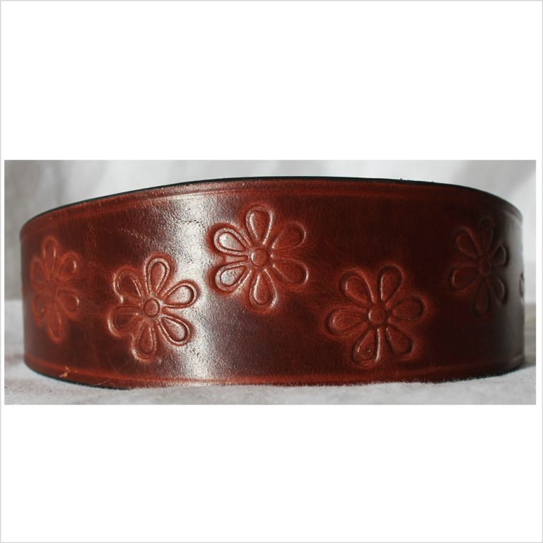 Signature Leather Hound Collars – Flower Power