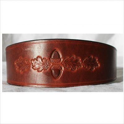 Signature Leather Hound Collars – Acorns