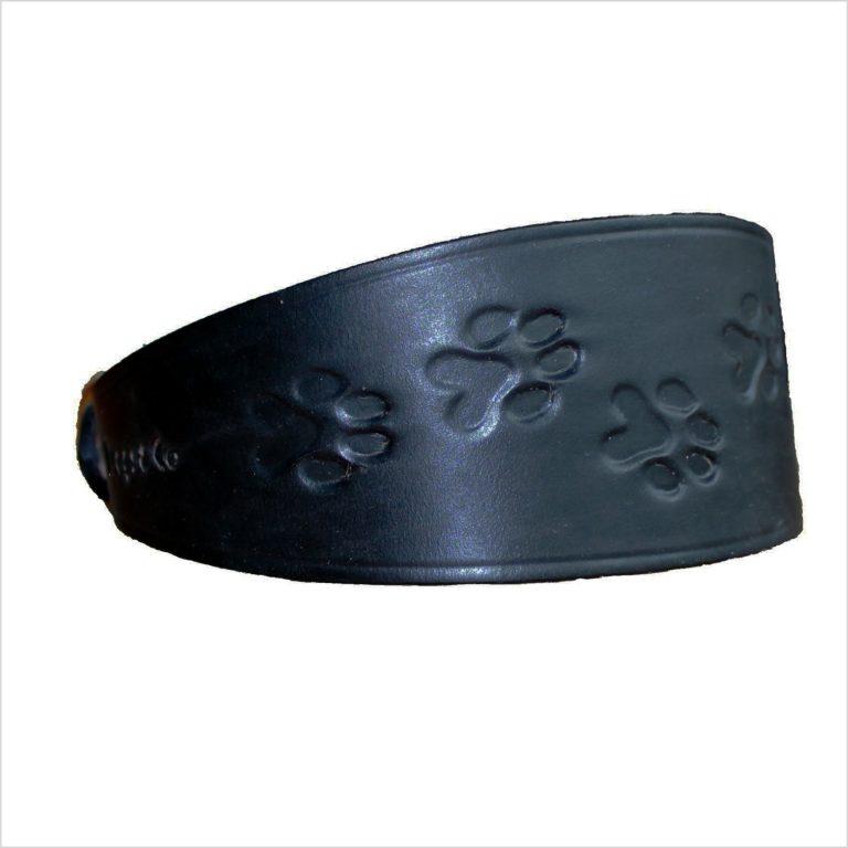 Signature Leather Hound Collars – Paw Print