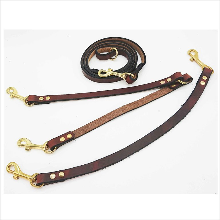 Signature Leather Triple Coupling Leads
