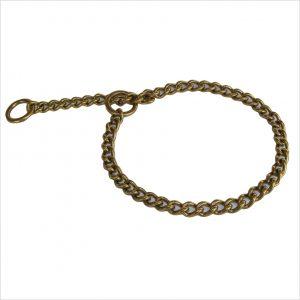 Brass Chain Dog Slip Collar