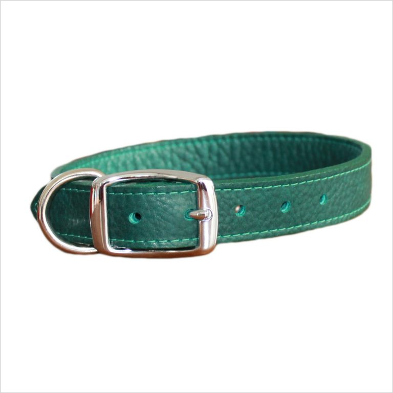 LUXE Leather Dog Collars – Forest Green