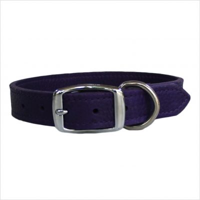 LUXE Leather Dog Collars – Purple