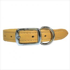 LUXE Leather Dog Collars – Mustard Yellow