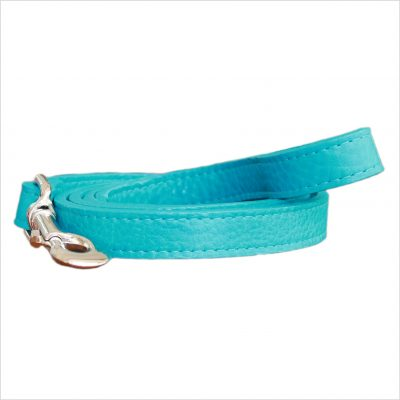 LUXE Leather Dog Leads – Turquoise Blue