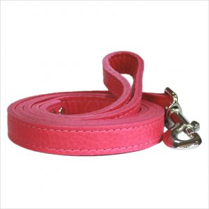 LUXE Leather Dog Leads – Flamingo Pink