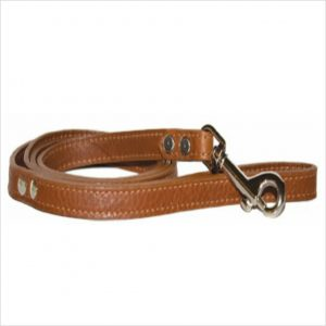 LUXE Leather Dog Leads – Tobacco Brown