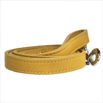 LUXE Leather Dog Leads – Mustard Yellow