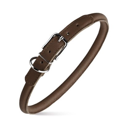 Rolled Leather Collars – Dark Brown