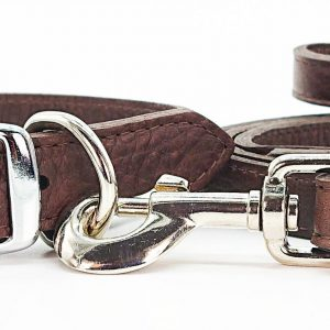 LUXE Leather Dog Collars – Chocolate Brown