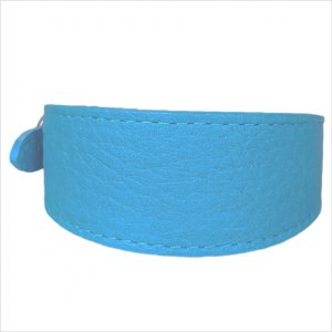 LUXE Leather Tapered Hound Collars – Turquoise Blue