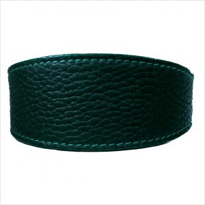 LUXE Leather Tapered Hound Collars – Forest Green