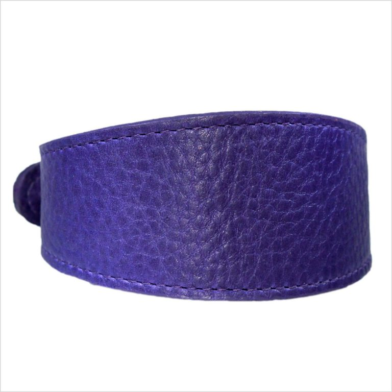 LUXE Leather Tapered Hound Collars – Purple