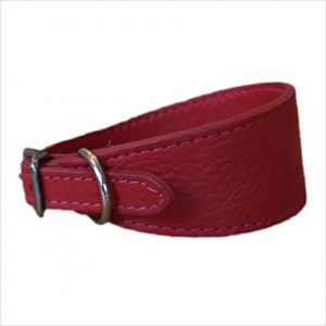LUXE Leather Tapered Hound Collars – Ruby Red