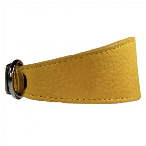 LUXE Leather Tapered Hound Collars – Mustard Yellow