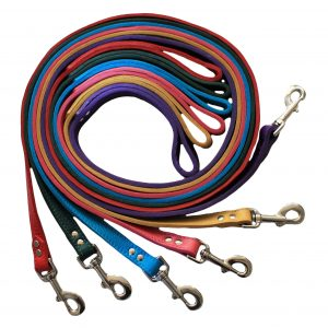 LUXE Leather Dog Leads – Purple