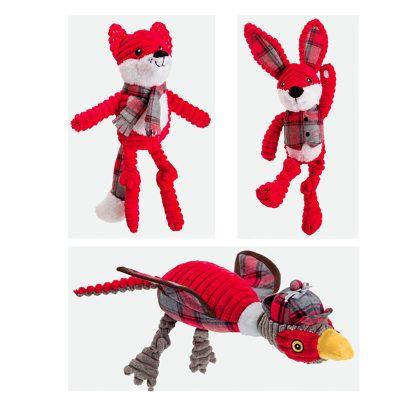 Christmas Red Corduroy Dog Toys