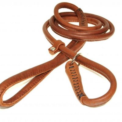 Rolled Leather Slip Dog Leads