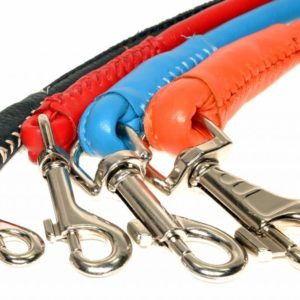 Rolled Leather Lead – Tan Brown