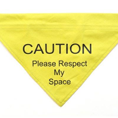 Yellow Warning Bandana