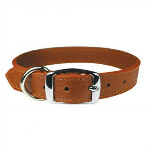 LUXE Leather Dog Collars – Tobacco Brown