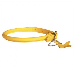 Rolled Leather Collars – Yellow
