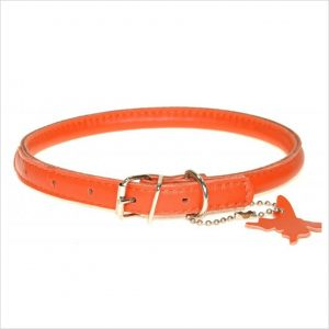 Rolled Leather Collars – Orange