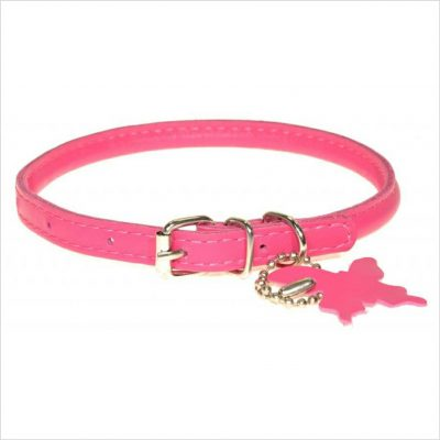Rolled Leather Collars – Fuchsia Pink
