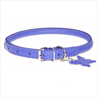 Rolled Leather Collars – Purple