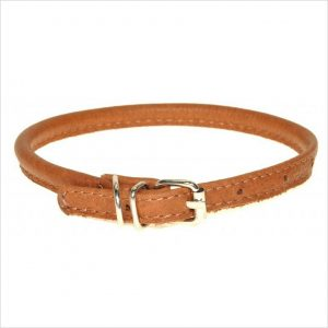 Rolled Leather Collars – Tan Brown