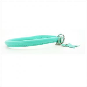 Rolled Leather Collars – Mint Green