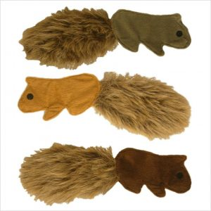 Little Flat Squirrel Dog Toys