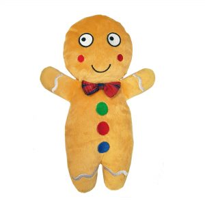 Christmas Gingerbread Dog Toy – No Squeaker! 12″ / 30 cm