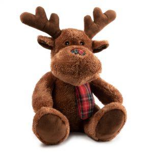 Christmas Large Brown Reindeer Dog Toy. 15″ / 38 cm