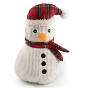 Christmas Nordic Tartan Snowman Dog Toy. 11″ / 28 cm