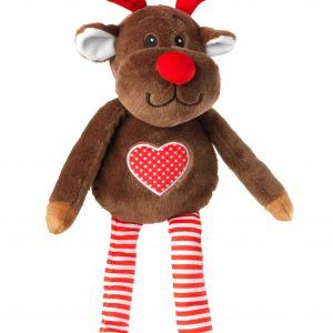 Christmas Reindeer Dog Toy with Antlers