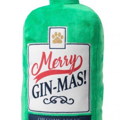 Christmas GIN-gle Bells Bottle Dog Toy
