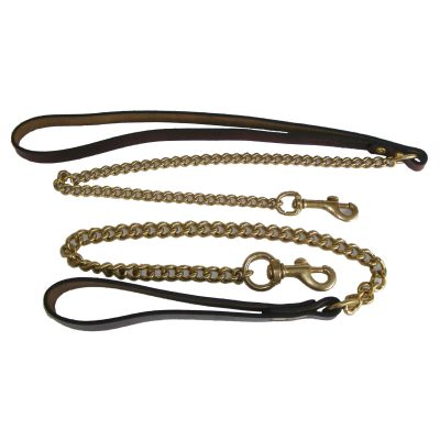 Signature Leather & Brass Chain Dog Leads