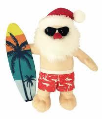 Christmas Surfin' Santa Dog Toy