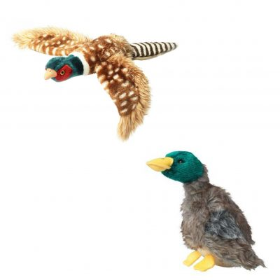 Extra Large Flying Pheasant & Large DuckDog Toys Twin Pack